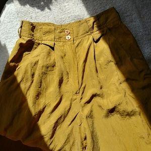 Vintage 100% Silk Pants Trousers High Rise 27